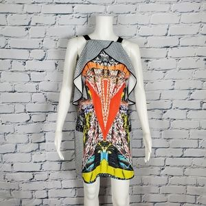 Clover Canyon Colorful Abstract Print Dress